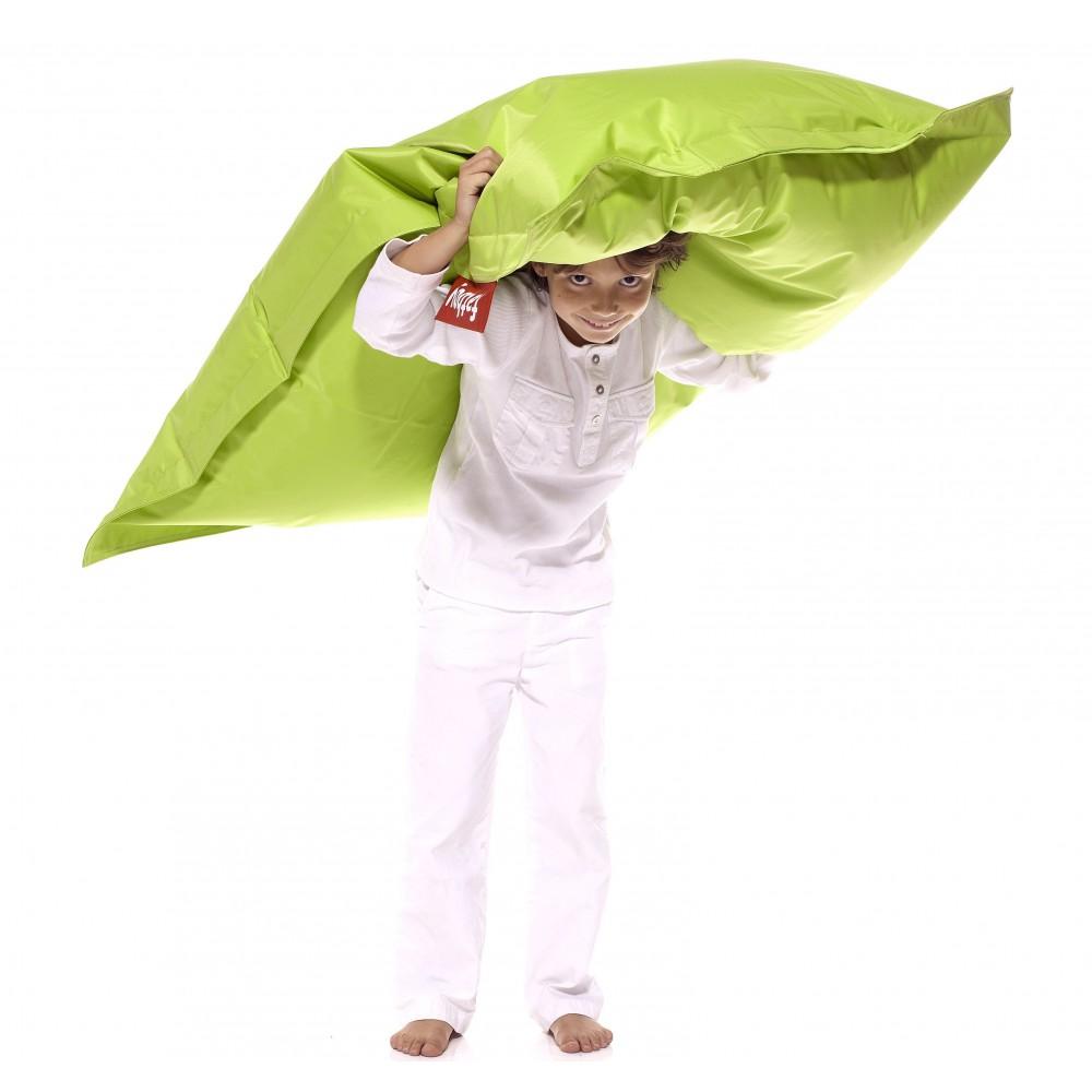 Pouf enfant vert citron