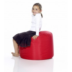Fatboy pouf rond rouge