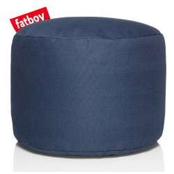 Pouf point Stonewashed bleu marine