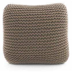Coussin de sol tricot taupe