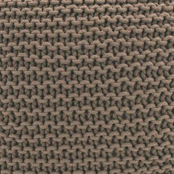 Coussin sol tricot taupe