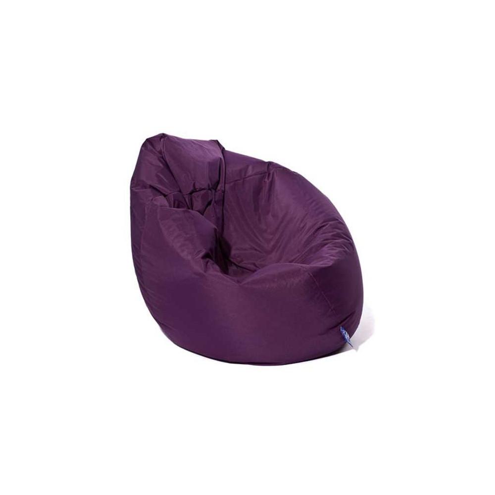 Pouf poire violet-aubergine Jumbo Bag. Vente pouf poire sur Pouf Design