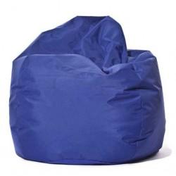 Pouf poire bleu