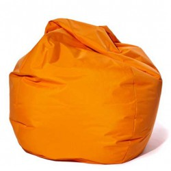 Pouf poire orange