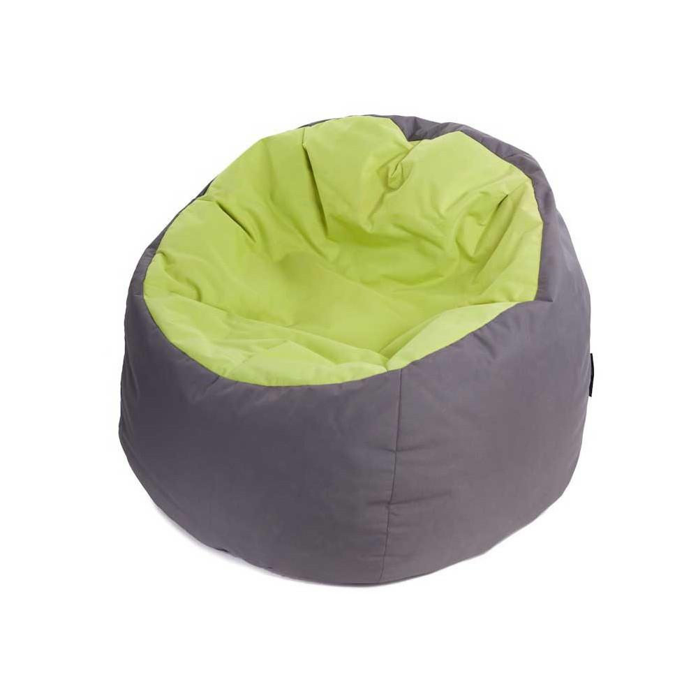 Pouf poire vert anis gris