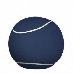 Pouf rond bleu