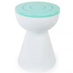 Tabouret-table blanc et vert
