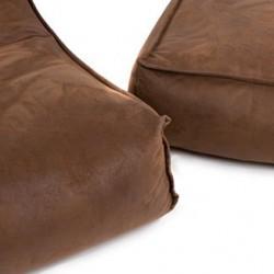 Pouf marron jumbobag repose pieds