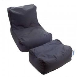 Pouf  fauteuil gris foncé