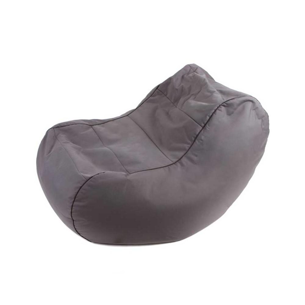 Fauteuil pouf gris