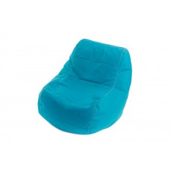 Fauteuil pouf bleu