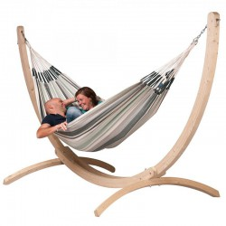 Support bois hamac double la siesta