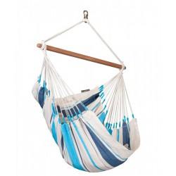 chaise hamac bleu blanc