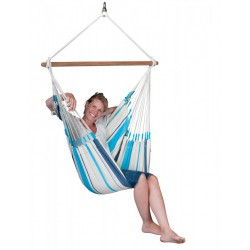 chaise hamac rayée bleu