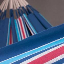 Hamac double coton bleu et rouge