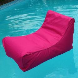 Pouf fauteuil piscine rose