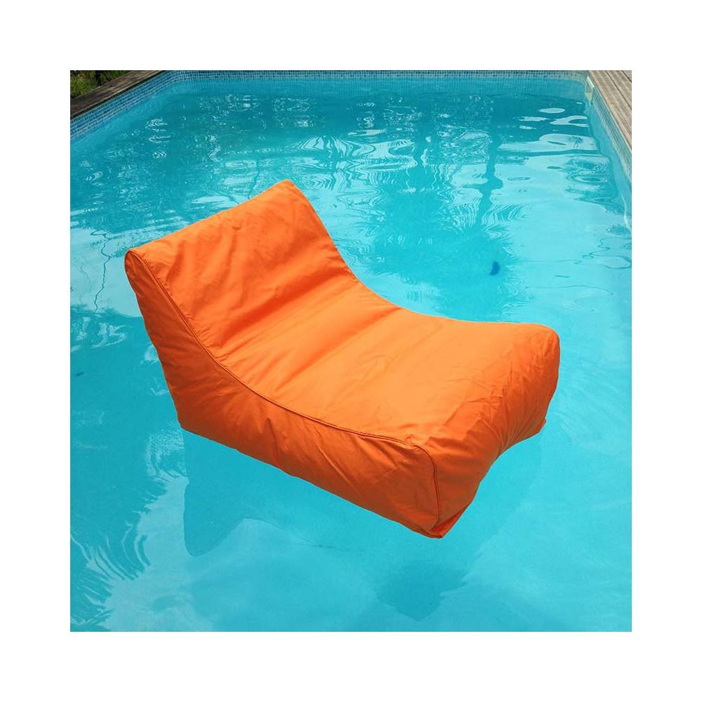Fauteuil piscine orange