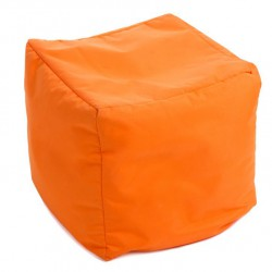 Pouf cube orange jumbo bag