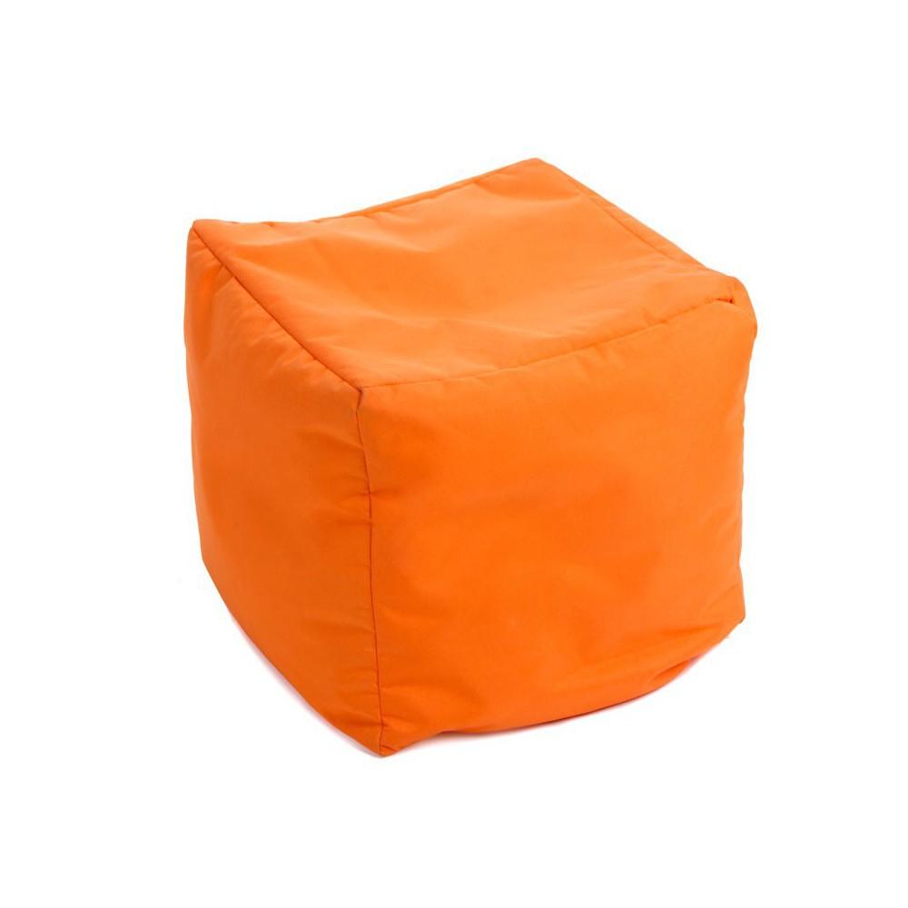 Pouf cube orange jumbo bag