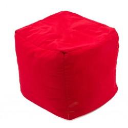 Pouf rouge cube