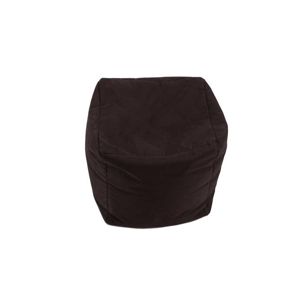 Pouf noir cube