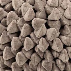 Pouf ziczac taupe