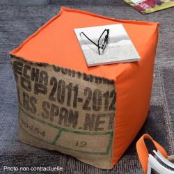 Pouf cube orange