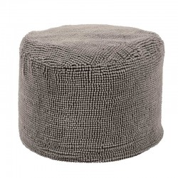 Pouf rond Shaggy taupe