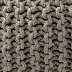 Maille tricot pouf taupe