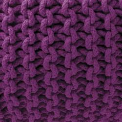 Pouf mauve maille tricot