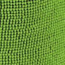 Pouf rond vert doux coton
