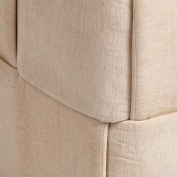 Pouf coton beige sable