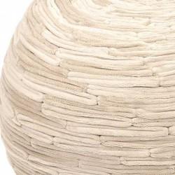 Pouf microfibre sable ziczac