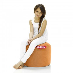 Pouf orange rond doux Fatboy