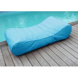 Chaise longue flottante bleu turquoise
