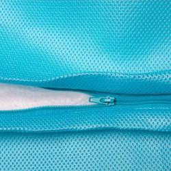 Pouf bleu piscine