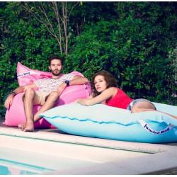 Pouf flottant piscine bleu