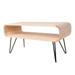 Table basse métal et bois XL Boom