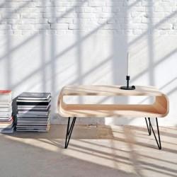 Table basse design bois et métal