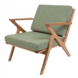 Fauteuil design vert