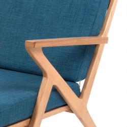 Fauteuil leitmotiv design bleu