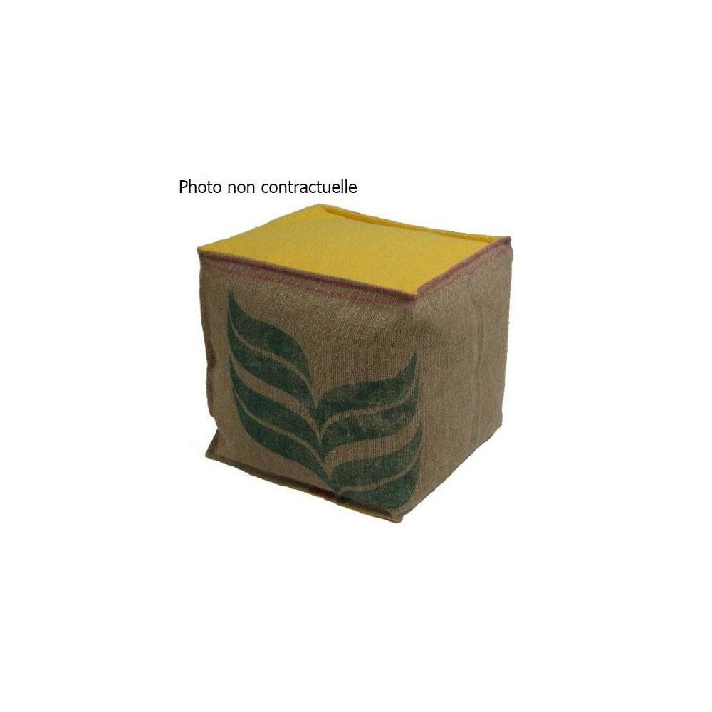 Pouf carré jaune lilokawa