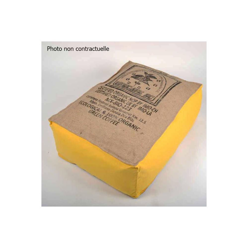coussin de sol jaune