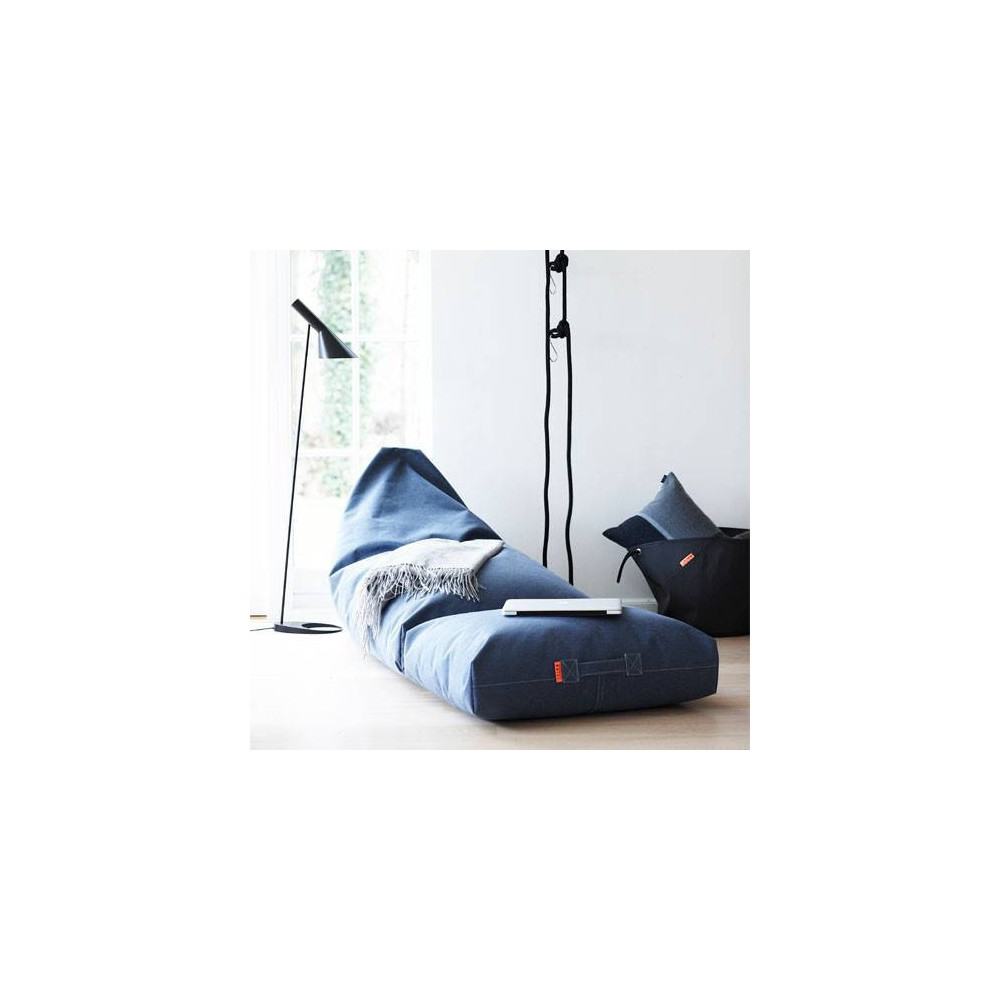 Pouf berlingot bleu jean