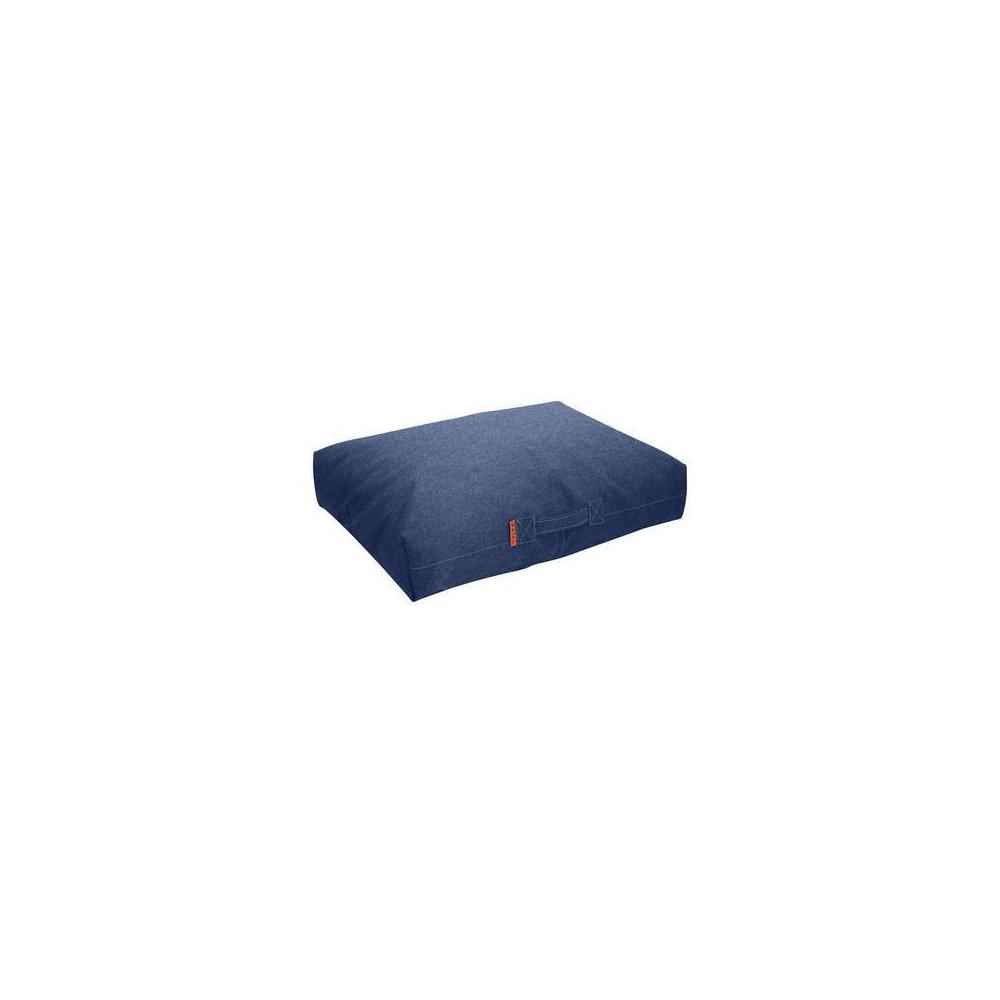 Pouf rectangulaire bleu