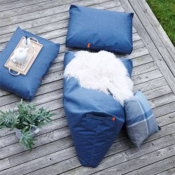 Coussin pouf trimm copenhagen bleu