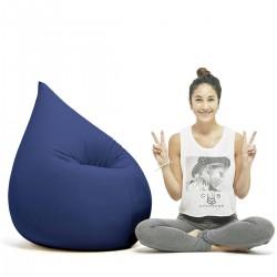 Pouf bleu confort Terapy