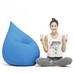 Fateuil pouf bleu
