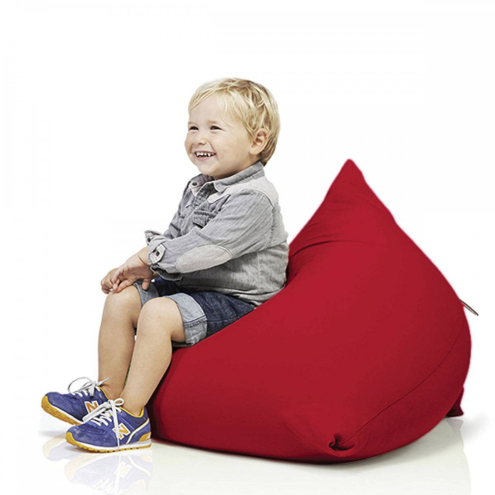 Pouf pyramide rouge