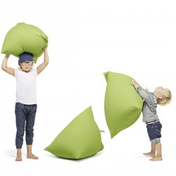 Pouf terapy enfant vert